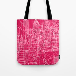 London! Hot Pink Tote Bag