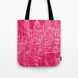 London! Hot Pink Tote Bag