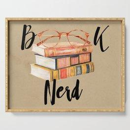 Book Nerd Serving Tray