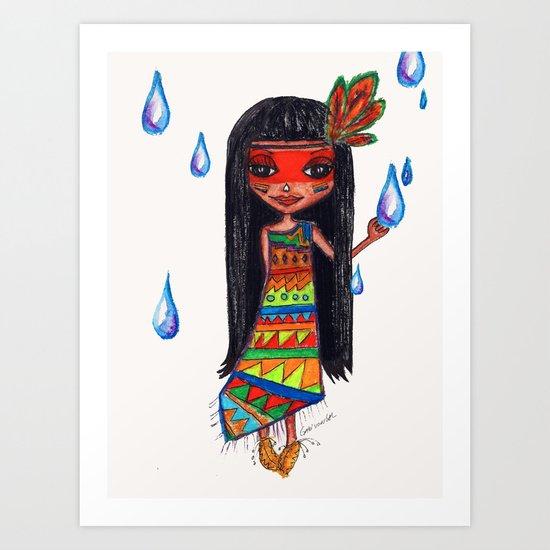 A menina que chovia Art Print