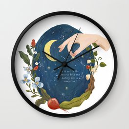 Make Your Stars Write Your Own Destiny Starry Night Wall Clock
