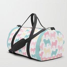 Pastel Pugs Pattern Duffle Bag