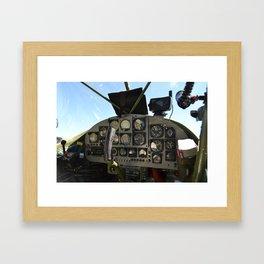 cockpit Framed Art Print