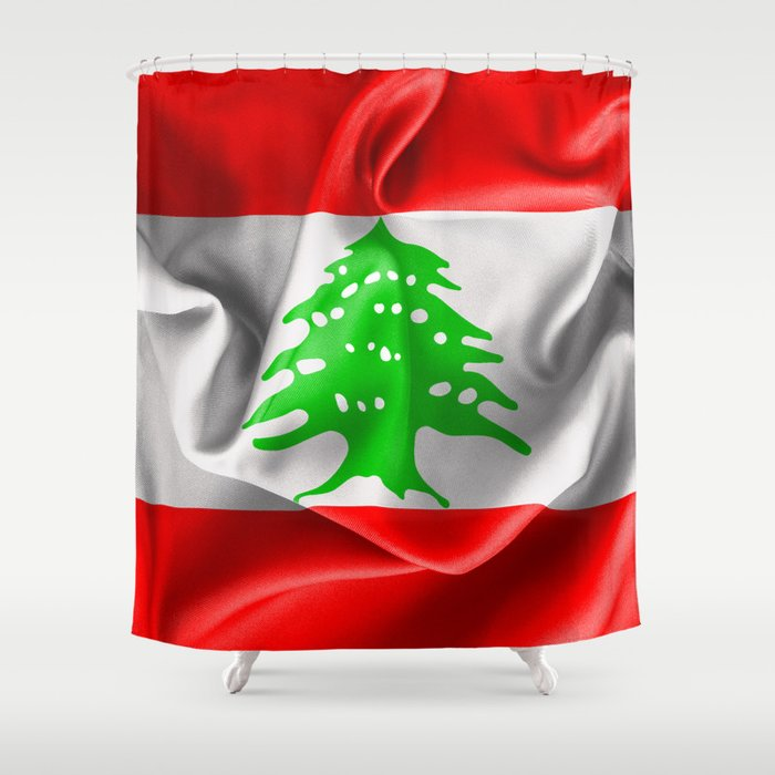Lebanon Flag Shower Curtain