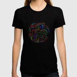 Hair pattern T-shirt