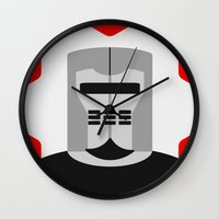 knight Wall Clocks featuring Knight by Vipes