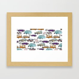 Cars and Campers Framed Art Print