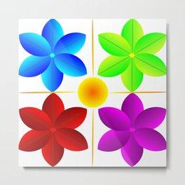 Neo geo flowers Metal Print