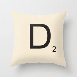 Scrabble D Throw Pillow