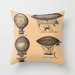 Airships / Air Balloons Throw Pillow