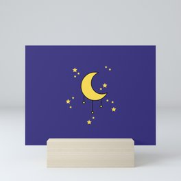 Moon and Stars Mini Art Print