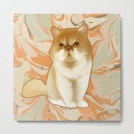 Winifred the Cat Metal Print