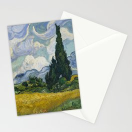 Wheat Field with Cypresses Stationery Cards
