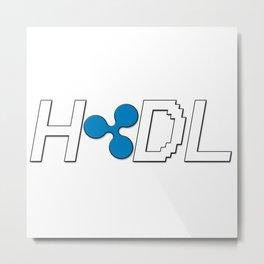 HODL Ripple Metal Print