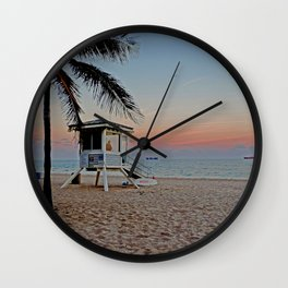 Las Olas Florida Wall Clock