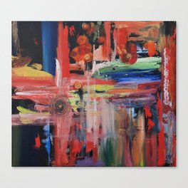 Abstract Orange Blue Canvas Print