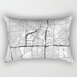 Akron Map, USA - Black and White Rectangular Pillow