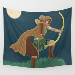 By the Light of the Moon Wall Tapestry