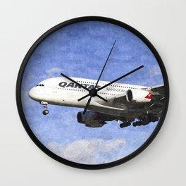 Qantas Airbus A380 Art Wall Clock