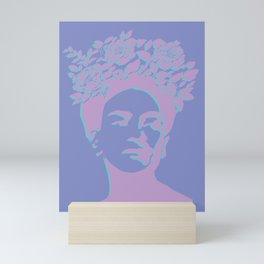 frida kahlo (purple version) Mini Art Print