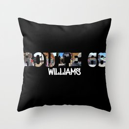 Route 66 Williams Big Letter Throw Pillow