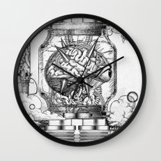 Mother Brain Super Metroid Engraving Scene Wall Clock