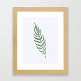 Lonely Leaf Framed Art Print