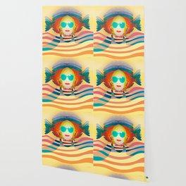 Swimming on Yellow Wallpaper