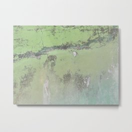 Green Patina Marble Wall Grunge Texture Earthy Vintage Pattern Mexico Mexican Natural Paint Marbled Metal Print