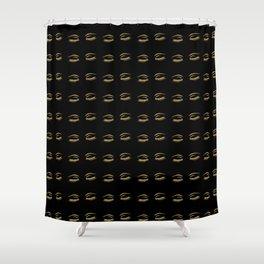 Eye Lashes in Black Shower Curtain