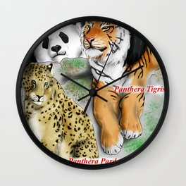 All Animals need love - Asiatic species Wall Clock