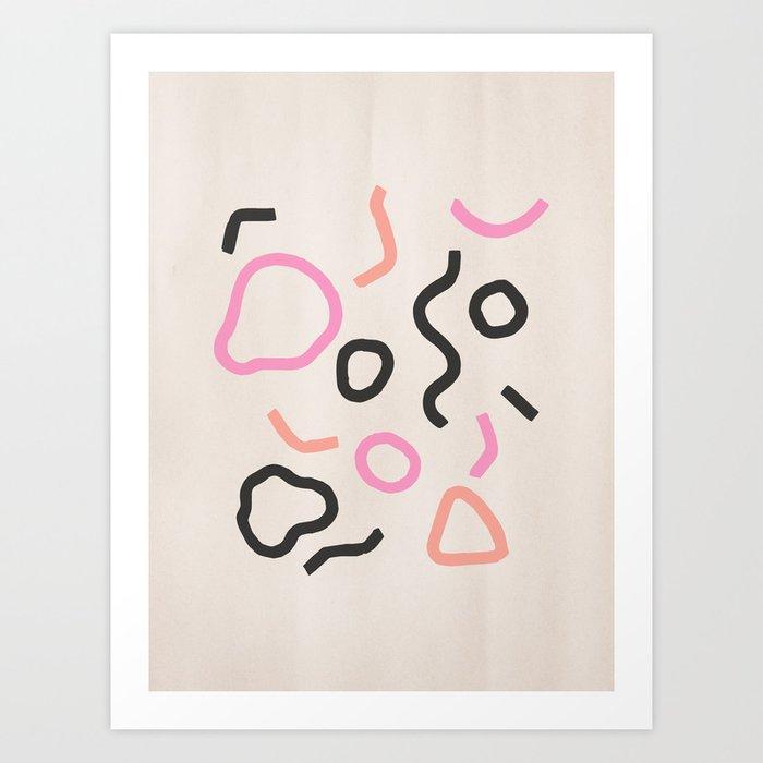 Pop Confetti Art Print