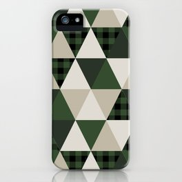 Hunter Green camping cabin glamping cheater quilt baby nursery gender neutral iPhone Case