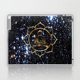Gold funky Space Buddha Laptop & iPad Skin