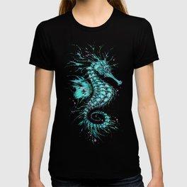 Cyan Seahorse T-shirt