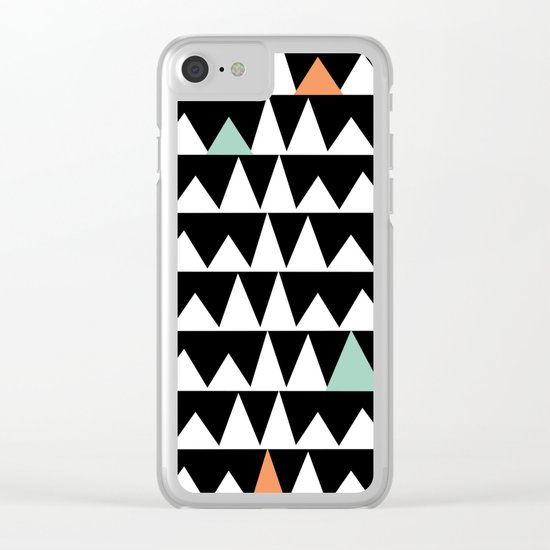 Tribal Triangles, Geometric Aztec Andes Pattern Clear iPhone Case
