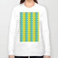 yellow pattern Long Sleeve T-shirts featuring Pattern KUKI,yellow by MehrFarbeimLeben