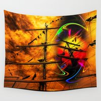 sail Wall Tapestries featuring Under sail  by Walter Zettl