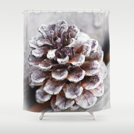 Soft Lone Pinecone Shower Curtain