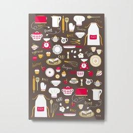 Teatime Treat Metal Print