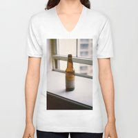 beer V-neck T-shirts featuring Beer by Photos by Madison