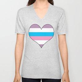 Intersex Heart v1 Unisex V-Neck