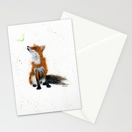 Maple Key Fox - animal watercolor painting Stationery Cards