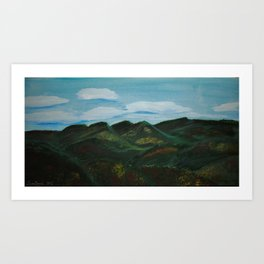 Blue Ridge View Art Print