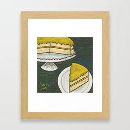 Lemon Cake Framed Art Print