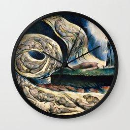 "William Blake ""Illustrations to Dante's Divine Comedy - The Circle of the Lustful Francesca Rimini"" Wall Clock"