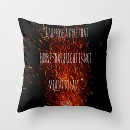 Divergent - Allegiant - Fire that burns that bright Throw Pillow