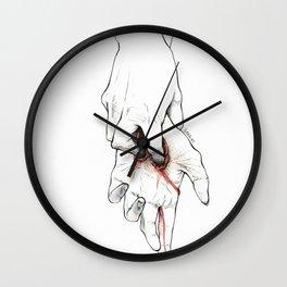 Untitled Hands No. 15 Wall Clock