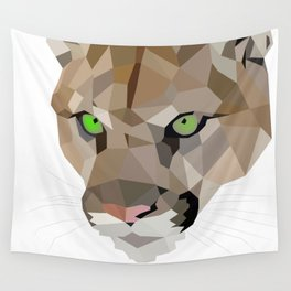 Cougar art Geometric Wall Tapestry