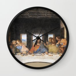 The last supper- painting by Leonardo da Vinci Wall Clock